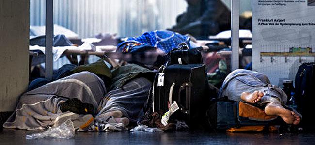 Три тысячи пассажиров застряли в аэропорту Франкфурта