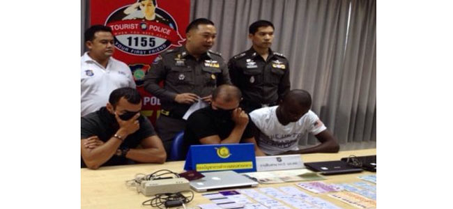 На Пхукете арестована шайка арабов — грабителей банкоматов, с просроченными визами и марихуаной