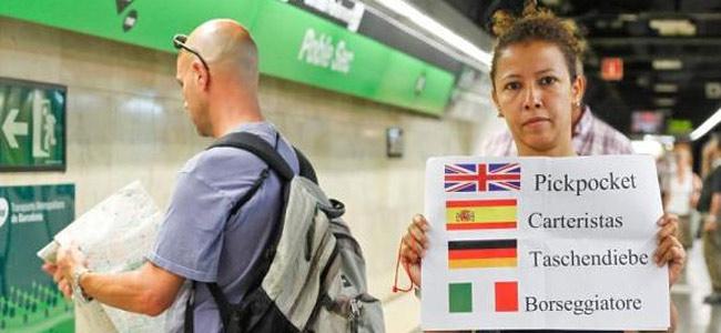 Пассажиры метро Барселоны задержали карманника, обчистившего туриста, и сдали в полицию