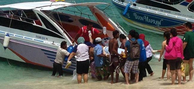 Непослушный китаец, нырнувший в Таиланде с движущейся моторки, погиб от ее винта