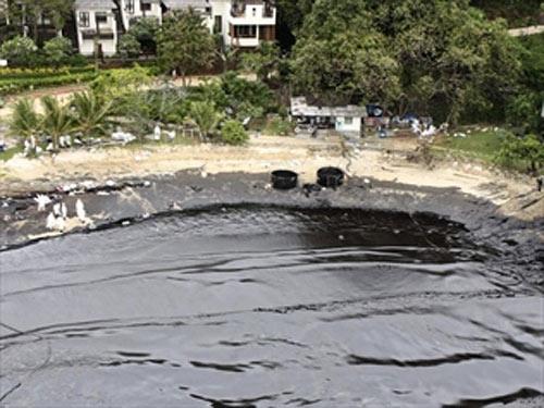 Нефтяное пятно на курорте в Таиланде