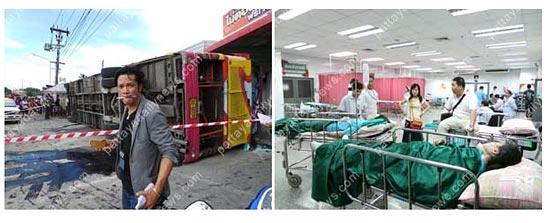 Авария туристического автобуса в Таиланде