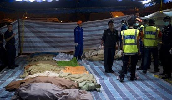 Жертвы ДТП в Малайзии