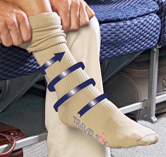 Носки для полета на самолете