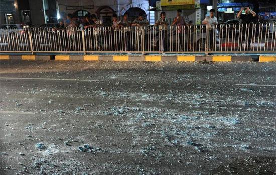 Взрыв в гостинице в Янгоне