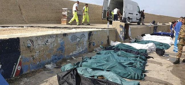 Тела десятков нелегалов, погибших у берегов Италии, складируют в ангаре аэропорта