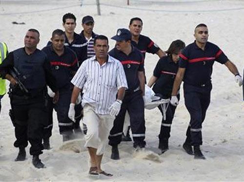 Взрыв на пляже в Тунисе