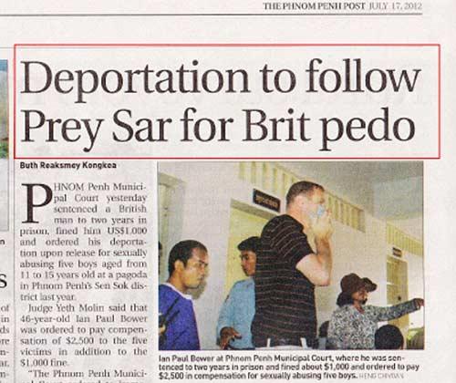 Депортация педофила из Камбоджи восвояси