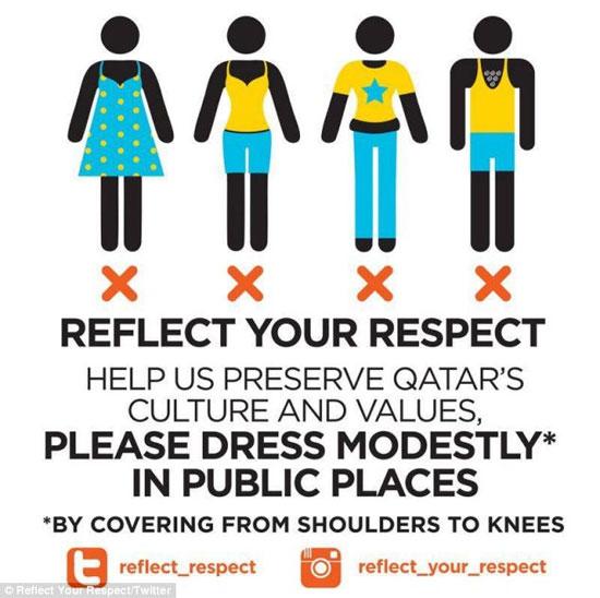 Как нельзя одеваться в Катаре