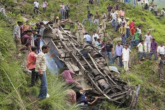 Авария автобуса в Индии