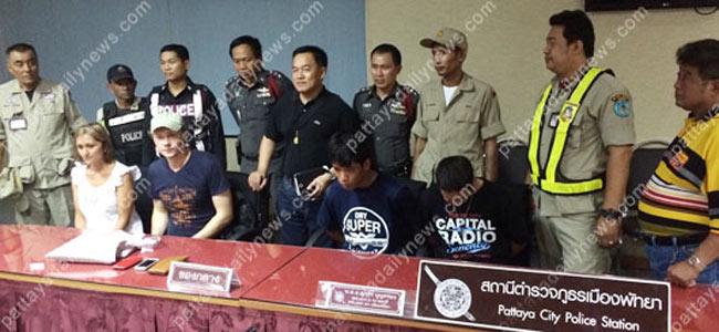 За нападение на русских туристов в Паттайе арестовано двое воров из Камбоджи
