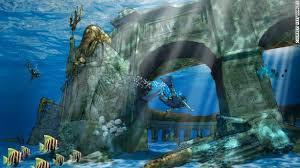 Развалины мифической Атлантиды ждут дайверов в подводном парке в Дубае