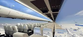 Дисплеи высокого разрешения заменят иллюминаторы в самолетах будущего