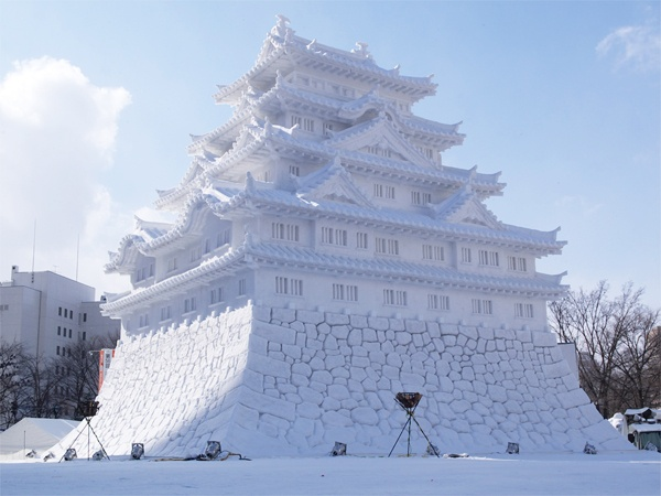 Японский праздник снега