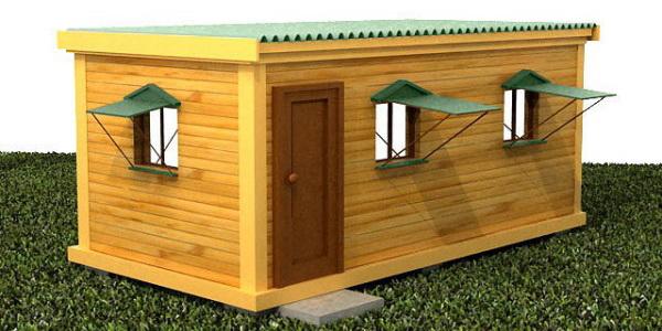 Модульные здания для дачи и стройки