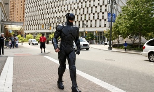 RoboCop on the streets in Detroit